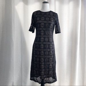 Dresses & Skirts - Fully Lined Black Lace Dress